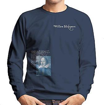 A.P.O.H Williams Shakespeare Writings Portrait Men's Sweatshirt
