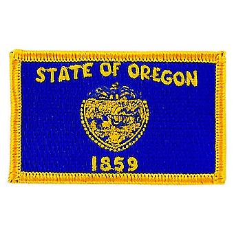 Patch Ecusson Brode Drapeau Oregon  Thermocollant USA Americain Etats Unis