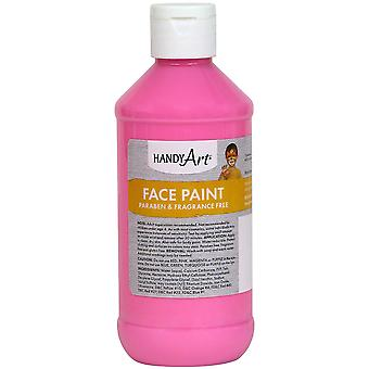 Handy Art Face Paint 8oz-Pink 556-22