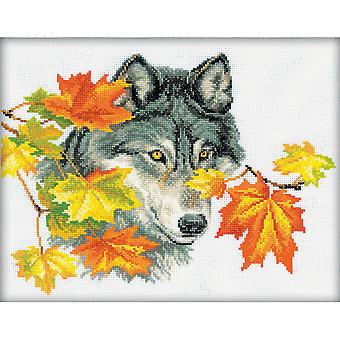 Wolf Counted Cross Stitch Kit-12.25