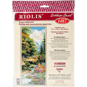 Berg rivier geteld Cross Stitch Kit-8