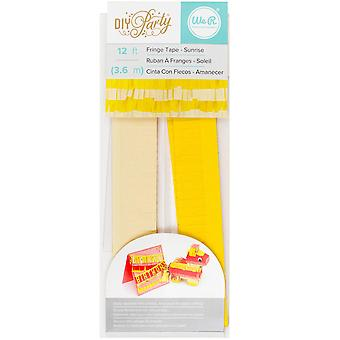 DIY Party Fringe Tape 12'-Sunrise 660804