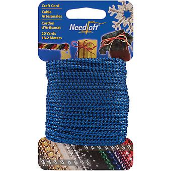 Needloft Novelty Craft Cord 20 Yards Metallic Blue 550 55002