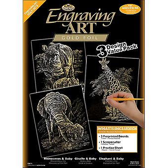 Foil Engraving Art Kit Value Pack 8 3 4