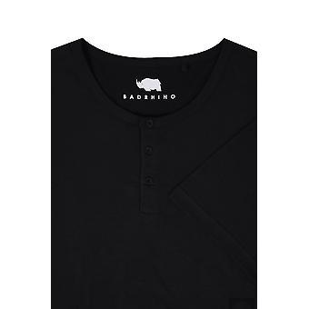 BadRhino Black Short Sleeve Granddad T-Shirt