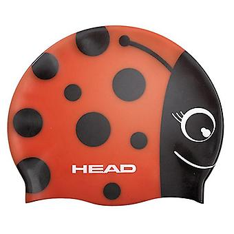 Head Meteor Character Silicone Swimming Cap - Red