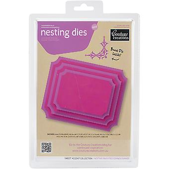 Couture Creations Nesting Dies-Inverted Corner Frames CO723955
