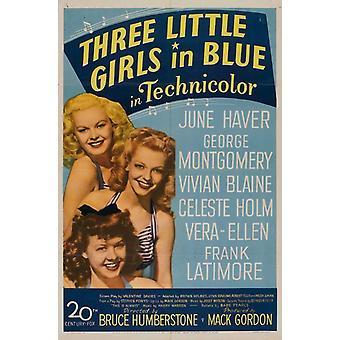 Tre små flickor i blå filmaffisch (11 x 17)