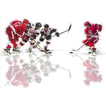 Ishockey 1 Poster trykk av Macneil Studio (36 x 24)