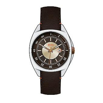 Hugo Boss Orange Herren Uhr Armbanduhr Leder Analog 1512294