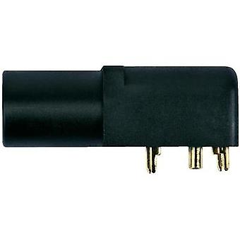 Jack socket Socket, horizontal mount Pin diameter: 4 mm Black Sc