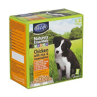 Hilife Nature's Essentials Dogfood hvalp kylling Veg & ris 8pk 150g (pakke med 3)