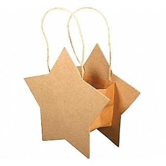 Paper Mache Star Shaped Bag to Decorate | Papier Mache Shapes
