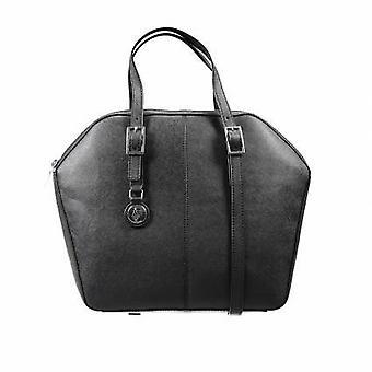 Armani AJ Jeans Ladies Pink Leather 2 handle zip Handbag B5213 U8 77 Black