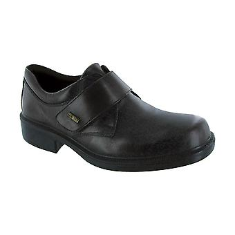Cotswold Cleeve Mens Shoes Textile Leather PU Sole Velcro Fastening Footwear