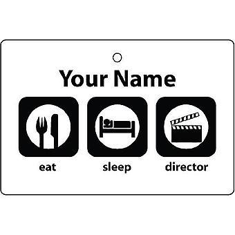 Gepersonaliseerd eten slaap directeur auto luchtverfrisser