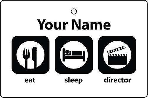 Personalised Eat Sleep Director Car Air Freshener