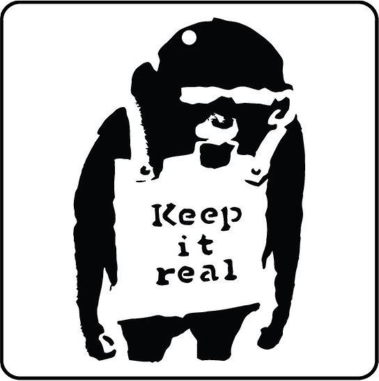 Banksy Keep It Real Car Air Freshener