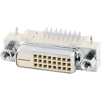 DVI connector Socket, horizontal mount Number of pins: 25 Beige econ connect DVID1 1 pc(s)