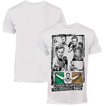 UFC Conor McGregor billede Collage T-Shirt-hvid