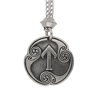 Handmade Norse Viking Teiwaz Rune of Victory 17th Runic Letter Pewter Pendant