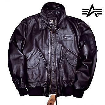 Industries Alpha CWU leather jacket