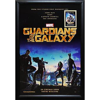 Guardians of the Galaxy - undertecknat filmaffisch