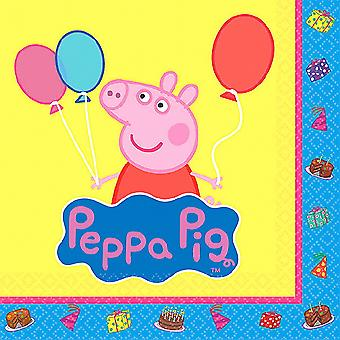 Peppa Pig Beverage Napkins [16 Per Packge]