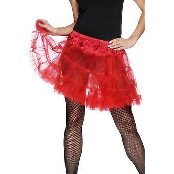 Petticoat rot Unterrock sexy Rock Damen Einheitsgröße