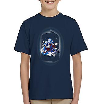The Doctors Together Tardis Silhouette Doctor Who Kid's T-Shirt