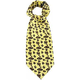 Knightsbridge Neckwear Paisley Silk Cravat - Yellow