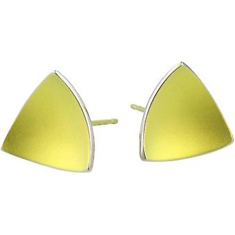 TI2 titanio triangolare a cupola Stud Earrings - giallo limone