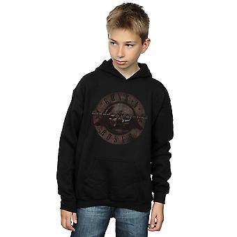 Guns N Roses Boys Sepia Bullet Logo Hoodie