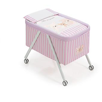 Interbaby Minicuna Aluminum White Model Love Rosa