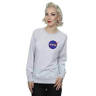 NASA Women's Classic Insignia Chest Logo Sweatshirt