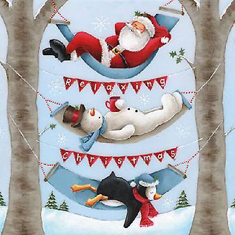 Ambiente 3 lags papirservietter, afslappende jul