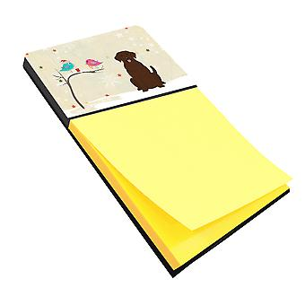 Christmas Presents between Friends Chocolate Labrador Sticky Note Holder