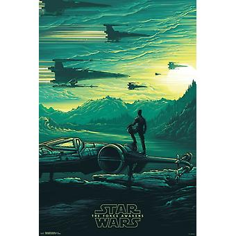 Star Wars The Force Awakens - Jakku Sunrise Poster Poster Print
