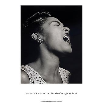 Billie Holiday plakat Print af William Gottlieb (14 x 20)