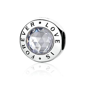 Sterling silver charm love is forever PAS342