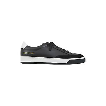 Common projects men's 20837547 black leather of sneakers