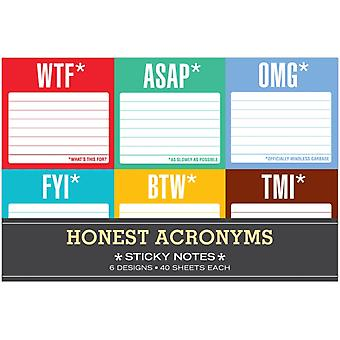 Sticky Note Packet: Honest Acronyms (Paperback)
