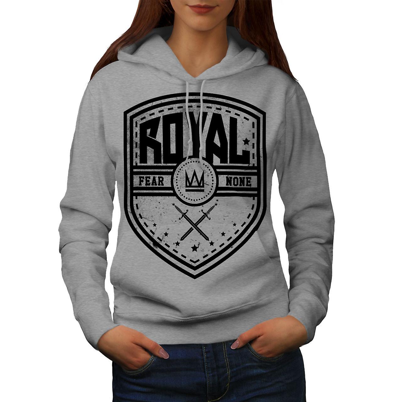 Peur de Royal Crown Slogan femmes grisHoodie