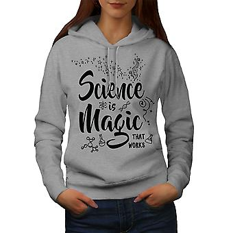 Science Magic Work Women GreyHoodie | Wellcoda