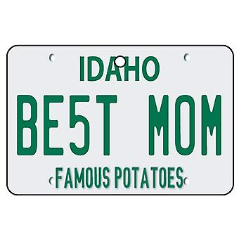 Idaho - Best Mom License Plate Car Air Freshener