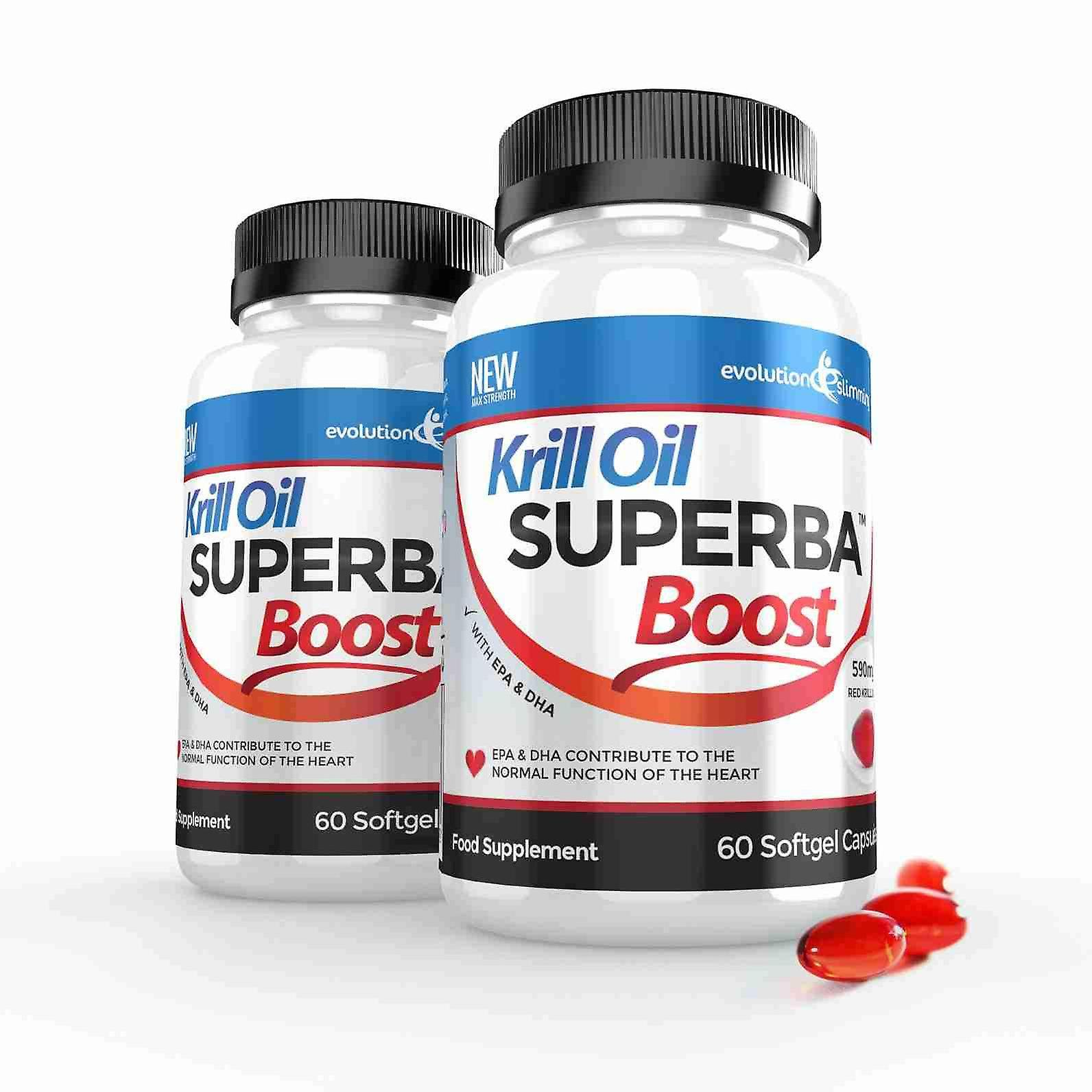Krill Oil Superba™ Boost 590mg Krill Oil Softgels - 120 Capsules - Brain, Heart and Joint Health - Evolution Slimming