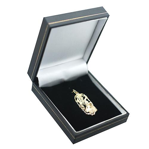 9ct Gold 33x17mm Aries Zodiac Pendant
