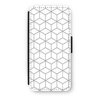 iPhone 5c Flip Case - Cubes black and white