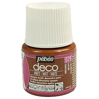 Pebeo Deco Water-Based Matt Colours 45ml (029 Brown)