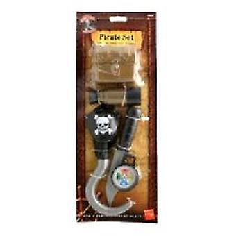 Piraat instellen - haak - mes - kompas - Patch (aantal 1)